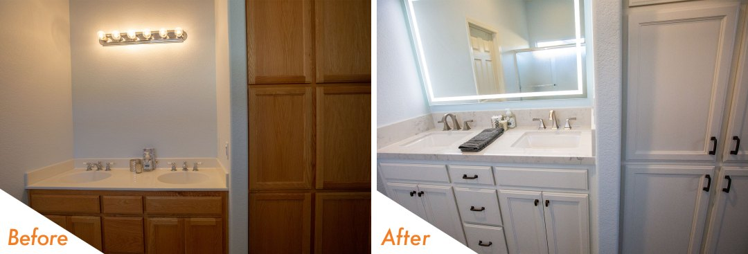 Before & After Bathroom Remodel