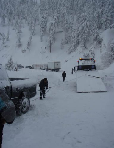 Avalanches on Arctic Circle prompted the closure of Highway 18 this morning.