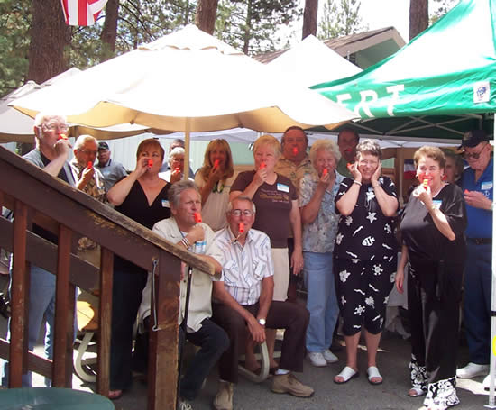 Members of our local CERT team (with their new whistles) last July.