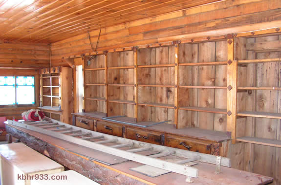The interior of the Juniper Point cabin.