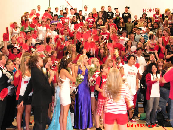 The Class of 2009, which graduates in just 20 days, got in the spirit of today's pep assembly.