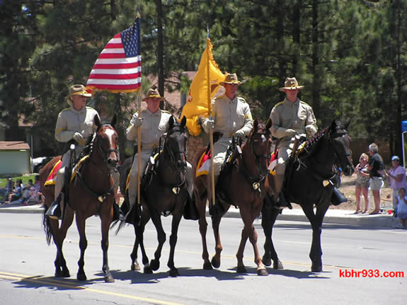 This year's Old Miners' Parade will include equestrian units, marching bands, and floats from local groups--plus a flyover by the U.S. Navy!