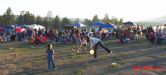 The western-most portion of Swim Beach was a popular spot for viewing Fourth of July fireworks over Big Bear Lake.
