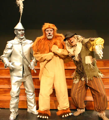 "The CATS production of ""The Wizard of Oz"" (featuring, from left, Steve Combs, Ty Warren and Joe Sellarole) runs through July 12."