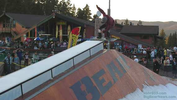 Bear Mountain brought in 110 tons of snow, for the annual snowboarding-in-September event.