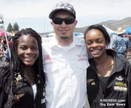 Pilot Kimberly Annadike, Flight Instructor Isaac Beteta, Pilot Kelly Annadike