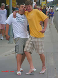 Cliff Sliger and Jason Rice, pumped up for last year's walk.