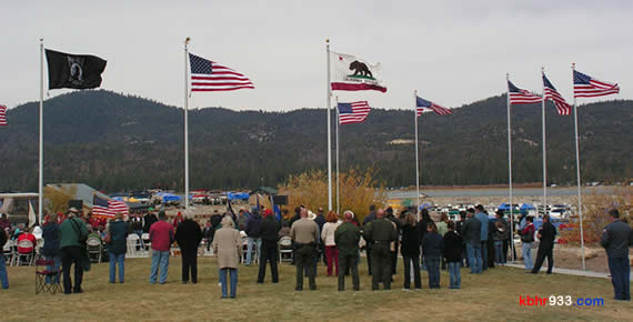 Big Bear Valley's veterans, as well as the general public and military families, joined the American Legion and our local Marine Corps Detachment for the 11/11 ceremony, which began at 11:11.