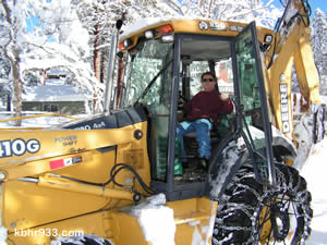 Snowplow operator Mark Richardson was off to help seniors, after having had a quick nap following a 64-hour run of snow removal.