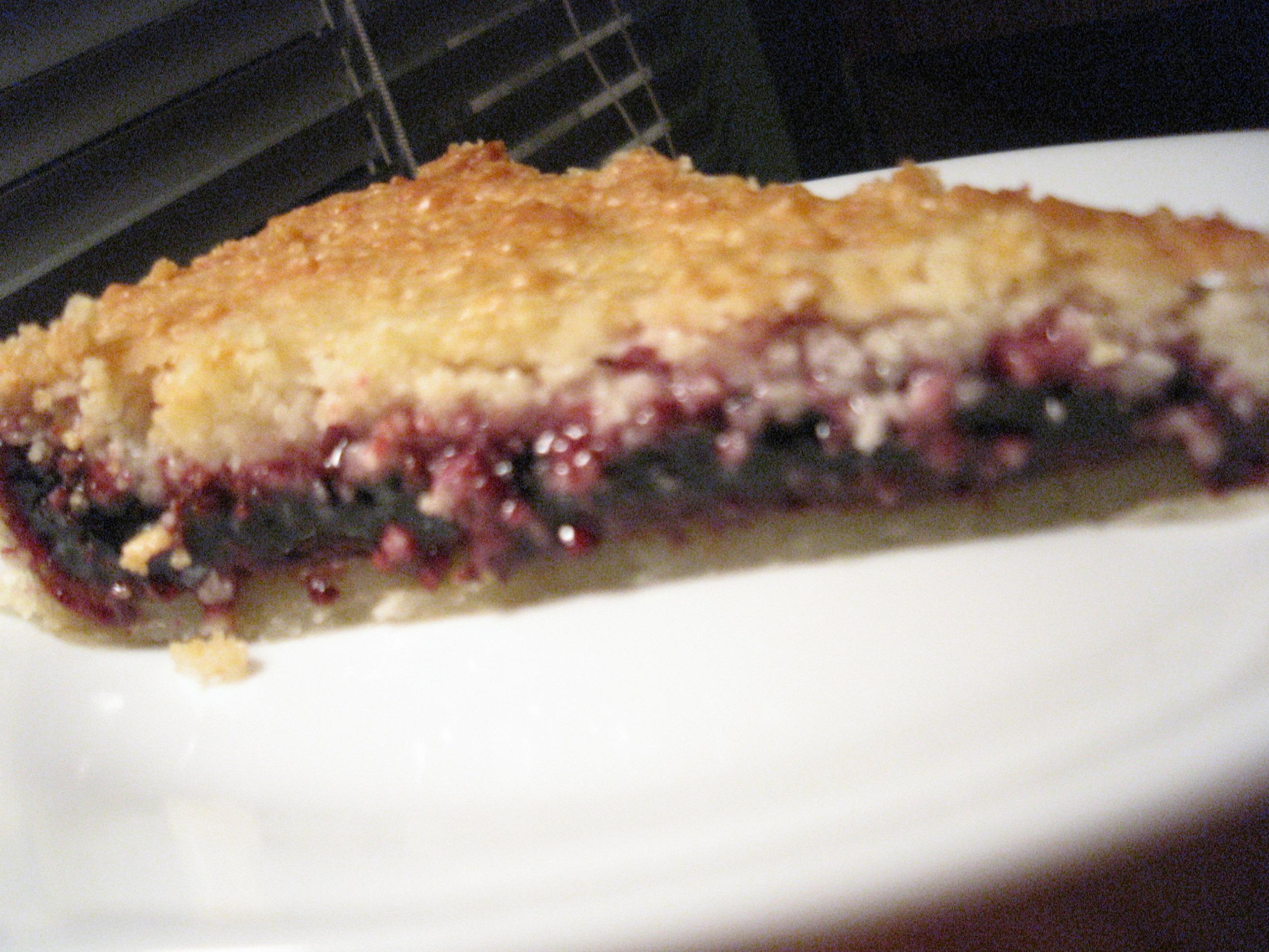 Bakewell tart piece