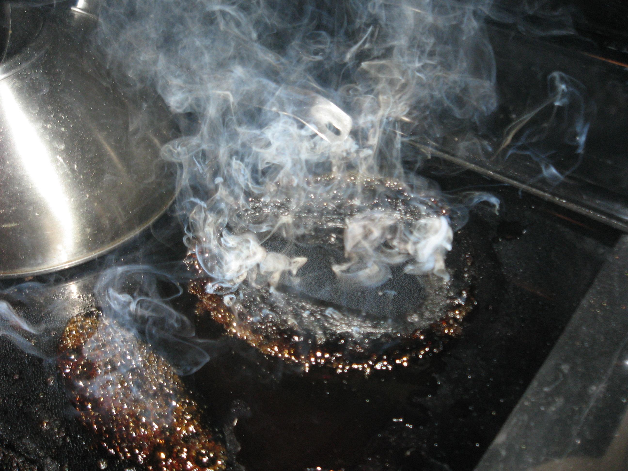 burning stove