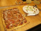 Flatbread pizza hors d'oeuvres.