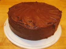 Chocolate Cake with my sister's famous chocolate icing, another carry-out.