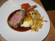 Lamb chop ready for eating.