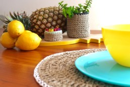 White Placemat & Small Bowl 2
