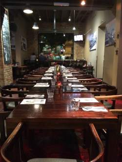 Comfortable dining arrangmenets