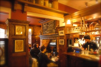 The Eagle, historic pub, Interior, Cambridge