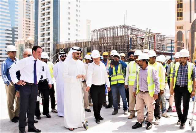 Klampfer Middle East stages Topping Out ceremony to mark progress on Novotel Sharjah Expo Hotel jobsite