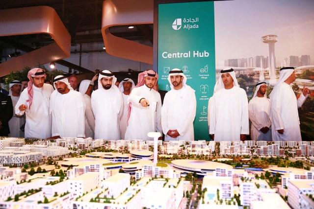 In Pictures: Arada Vice Chairman HRH Prince Khaled bin Alwaleed presents Aljada's Central Hub at Cityscape Dubai to HH Sheikh Hamdan bin Mohammed