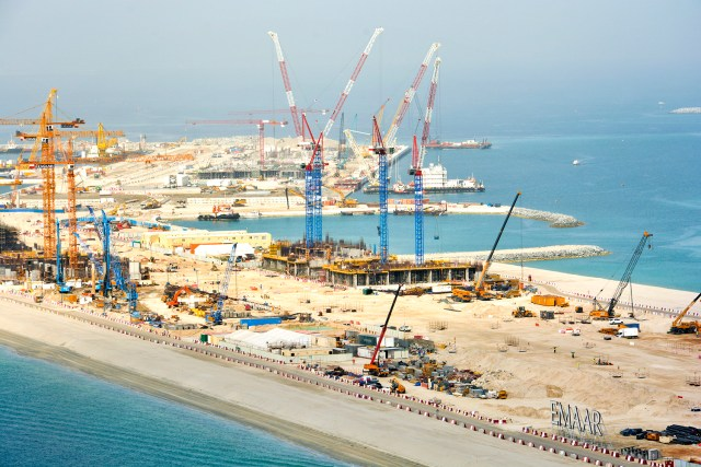 Nurol Construction's four new Raimondi LR213 luffers installed in Dubai on luxury beachfront development