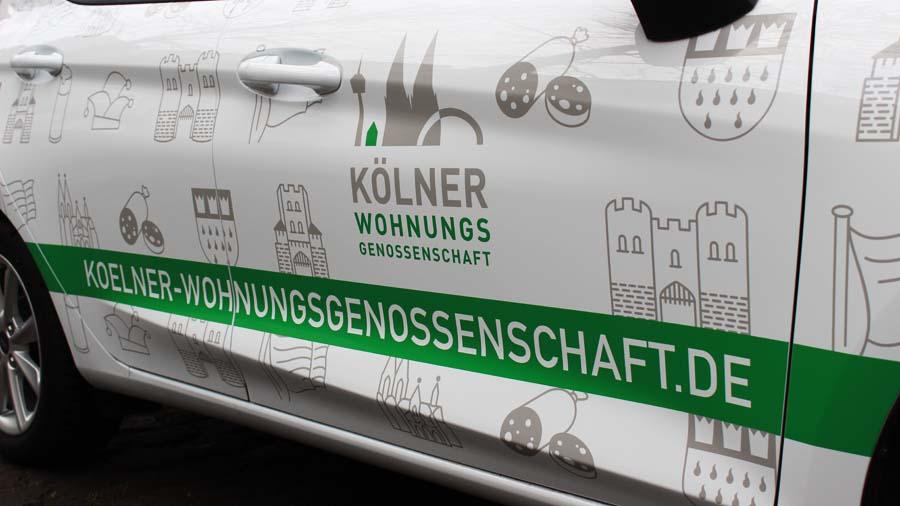 Autofolierung Beispiel für feine Plot-Arbeit KBZ Köln 1