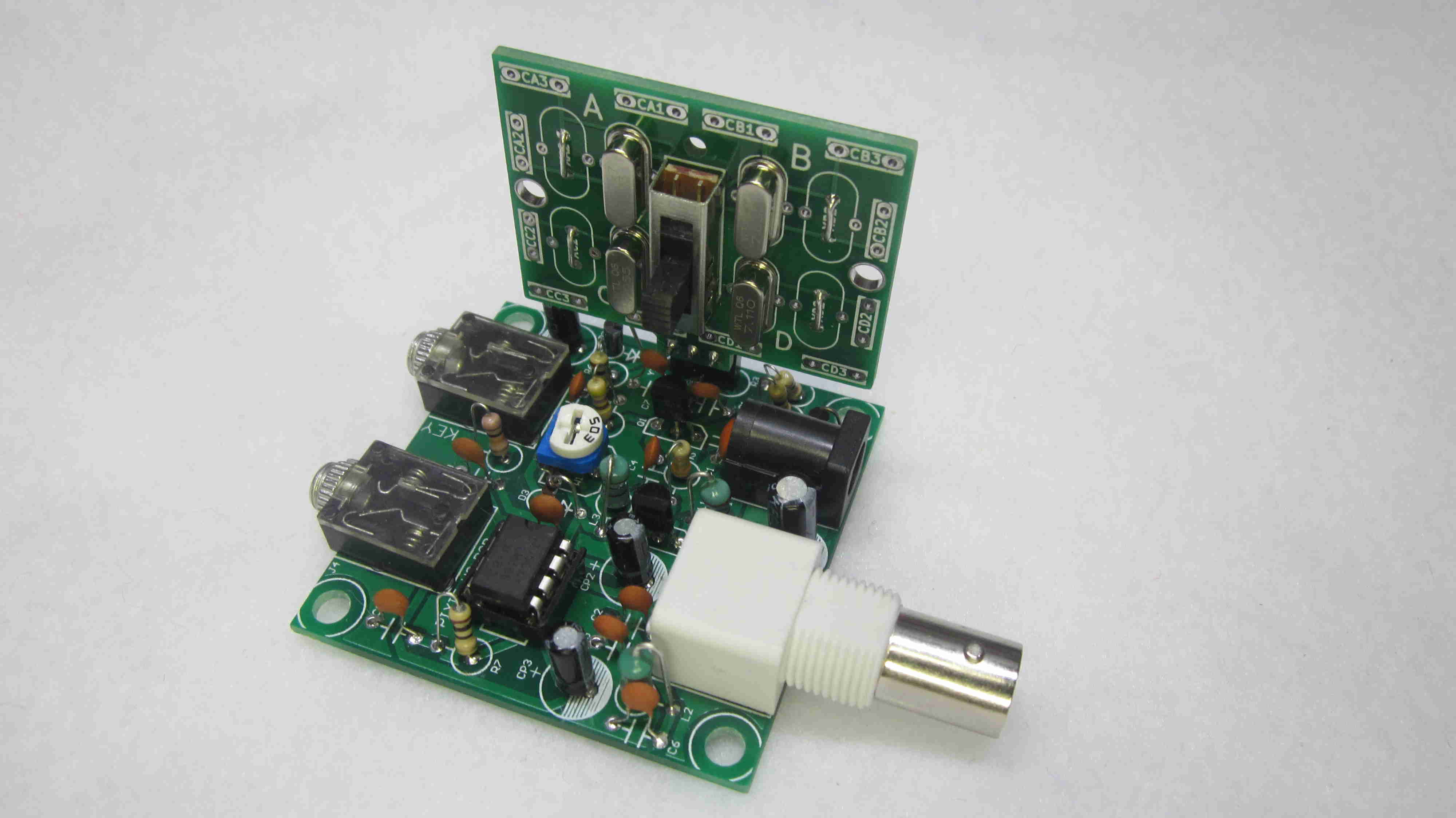 Pixie QRP Transceiver kit with Pixie switch and 3 Xtals