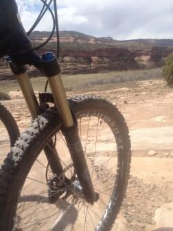 12 mile bike ride along the Colorado River. Kokopelli Trail, Fruita, CO.