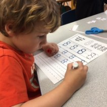 Practicing writing and numbers