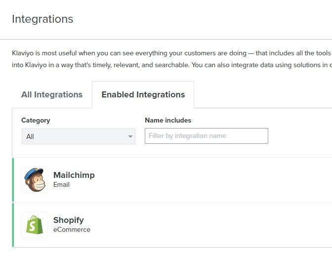 MailChimp Klaviyo API Integration