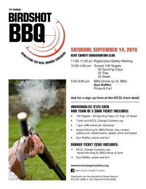 KCCL's First Annual Birdshot BBQ - 9-14-19