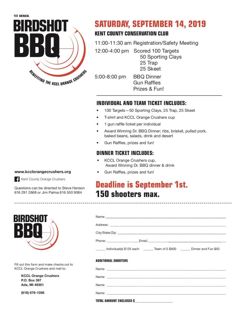 Birdshot BBQ Registration