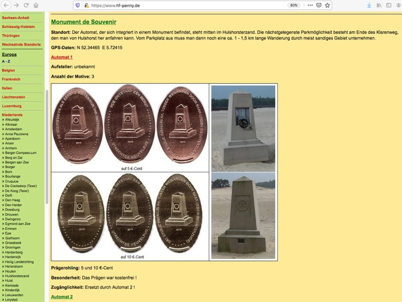 Website for collectors of the penny press coins