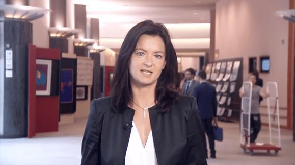 Tanja Fajon – Member of the European Parliament and Slovenian Politician addressing a welcoming speech