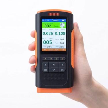 【新商品】PM1.0/2.5/10の濃度、温度、湿度、ホルムアルデヒドを測定表示するPM 2.5 測定器「CHE-PM25」が発売