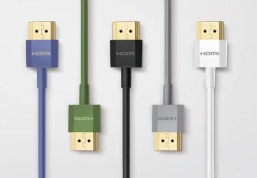 【新商品】プレミアムHDMIケーブル 超スリムタイプに新色4種が発売