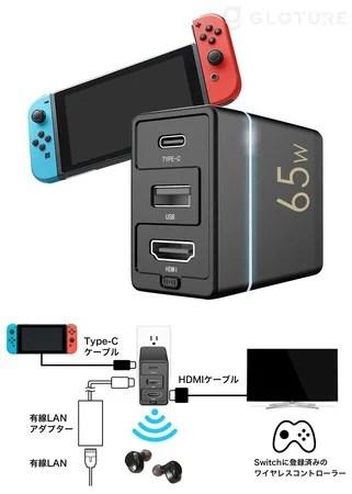 【新商品】Switchドック機能/Type-C/USBポート/HDMIポート/Bluetooth搭載/急速充電器/アダプター/HUBが搭載されたコンパクトな多機能ドッグ「Dongii Charger」が発売