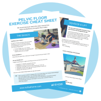 With written directions to easily remind yourself how to do the pelvic floor exercises