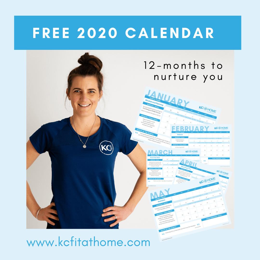 KC Fit @ HOME 12 Month Calendar