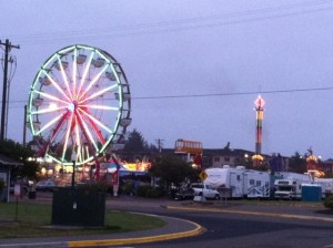 The Davis Show Carnival is operating at the Port of Siuslaw Boardwalk through Sunday as part of the 106th Rhododendron Festival.  Davis Shows has been coming every year for the past 60 years.