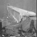 """One of noted bridge engineer Conde McCulloch's designs, the Cape Creek Bridge completed the """"million-dollar mile"""" that included a tunnel. (Oregon Department of Transportation photo)."""