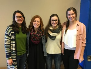 Nominees for Florence's Future First Citizen are (l. to r.) Holly Hicks, Hannah Bartlett, Ali Scheer, and Mikaela Siegel. The winner will be announced at the Siuslaw Awards Dinner January 20th. (Florence Area Chamber of Commerce photo).
