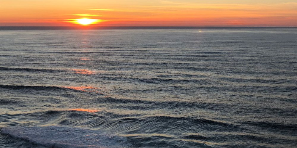 Ocean Swirls at Sunset