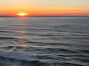 Ocean Swirls at Sunset