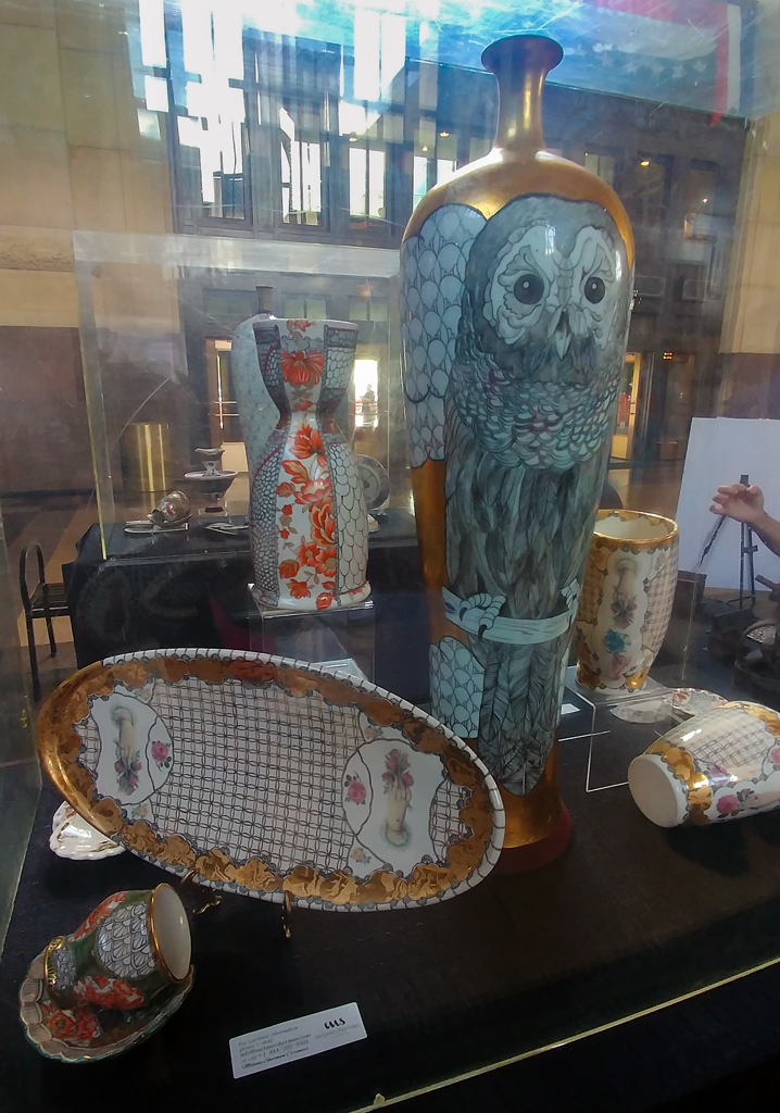 Works of art by Melania Sherman on display at the 2019 Fringe Festival KC Visual Arts Exhibition at Union Station (Photo by <i>Mugur Geana</i>)