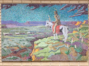 Mosaic art at the Prairie Village Shops