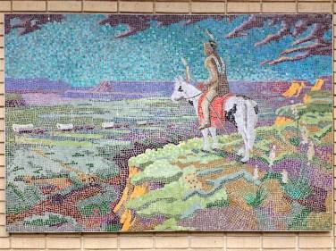 Mosaic art at the Prairie Village Shops
