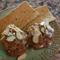 Stuffed Mushrooms with Sweet Italian Sausage, Goat Cheese & Figs