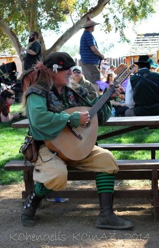 Musician Playing Mandolin