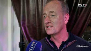 Kilkenny GAA's Michael Dempsey speaking to KCLR at the team's media night in Kilkenny on 25 August 2015.
