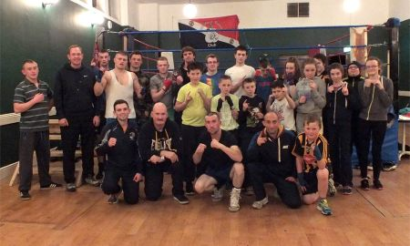 Fighters, trainers, trainees and more of those involved at Urlingford Boxing Club. Photo: Urlingford Boxing Club/Facebook